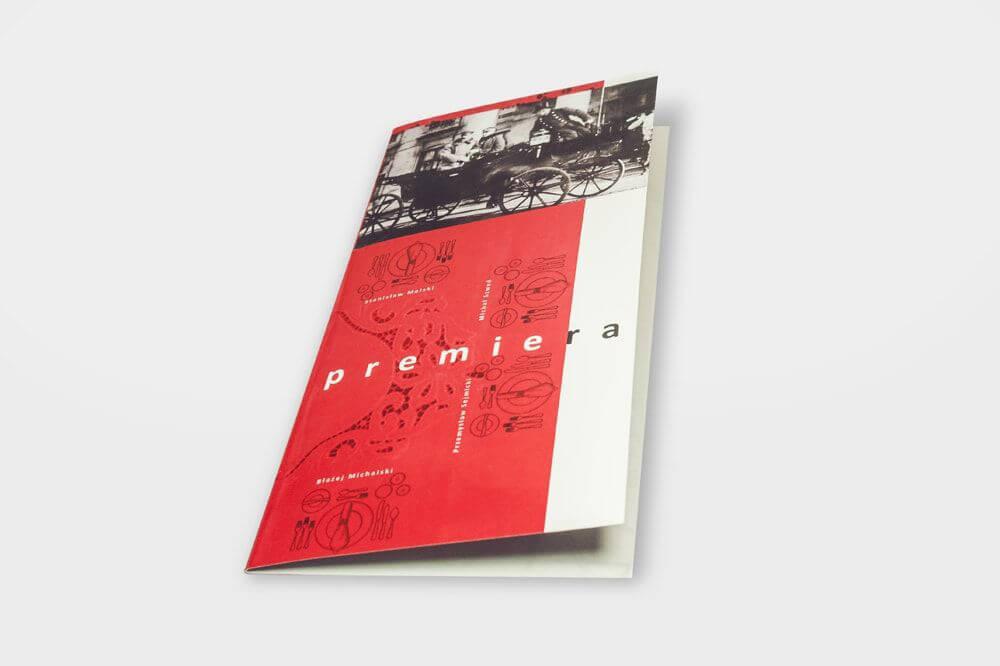 Folder na papierze offsetowym Premiera