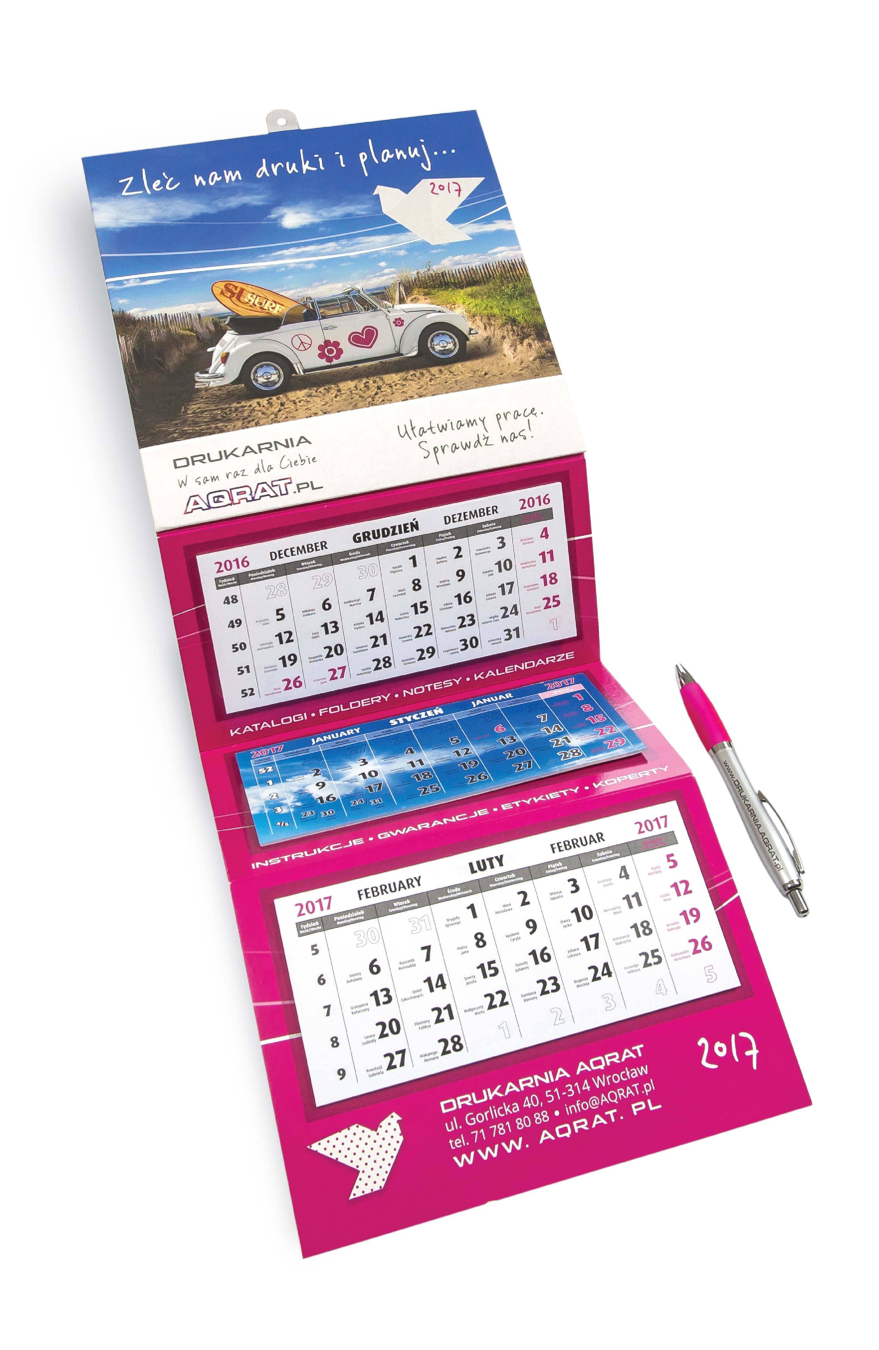 Kalendarz trójdzielny mini 02 - Kalendarze trójdzielne