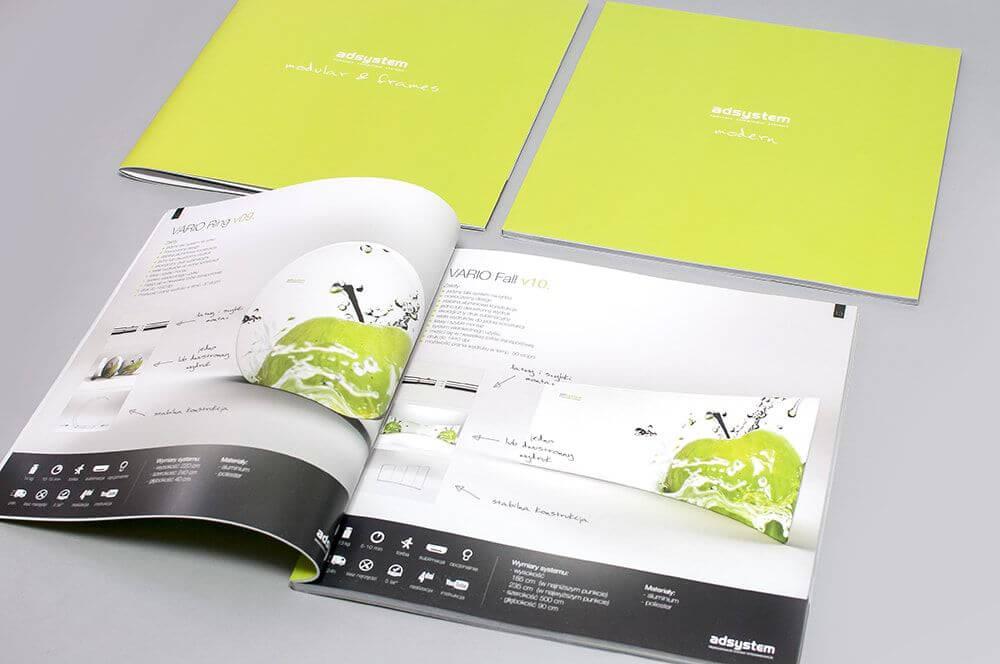 Katalog firmowy 210x210 oprawa klejona zywe kolory min 1 - Katalogi, broszury, foldery