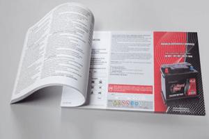 Druk instrukcji ksiazeczka kolorowa akumulatory