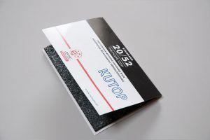 Etykieta okladka na probke papy dachowej