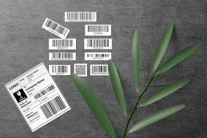 Etykiety samoprzylepne z kodem kreskowym