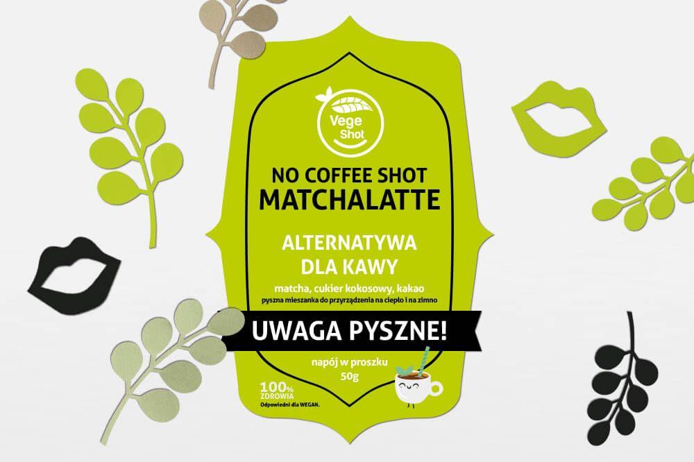 Etykieta samoprzylepna wycinana zielona nocoffee