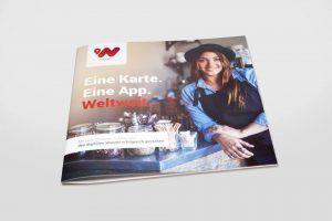 Folder broszura firmowa kwadrat dziewczyna w kapeluszu