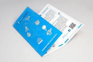 Niebieski folder informacyjny