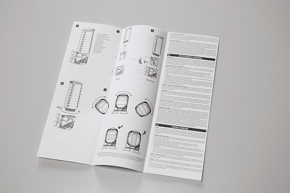 Instrukcja druk jednokolorowy skladana harmonijka