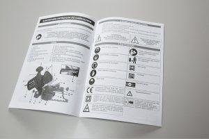 Druk czarno bialy instrukcji