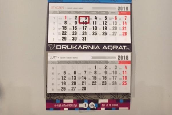 KAlendarium kalendarza trojdzielnego