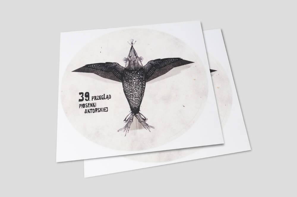 Naklejki wlepy etykiety z przepgladu piosenki aktorskiej wroclaw 2018