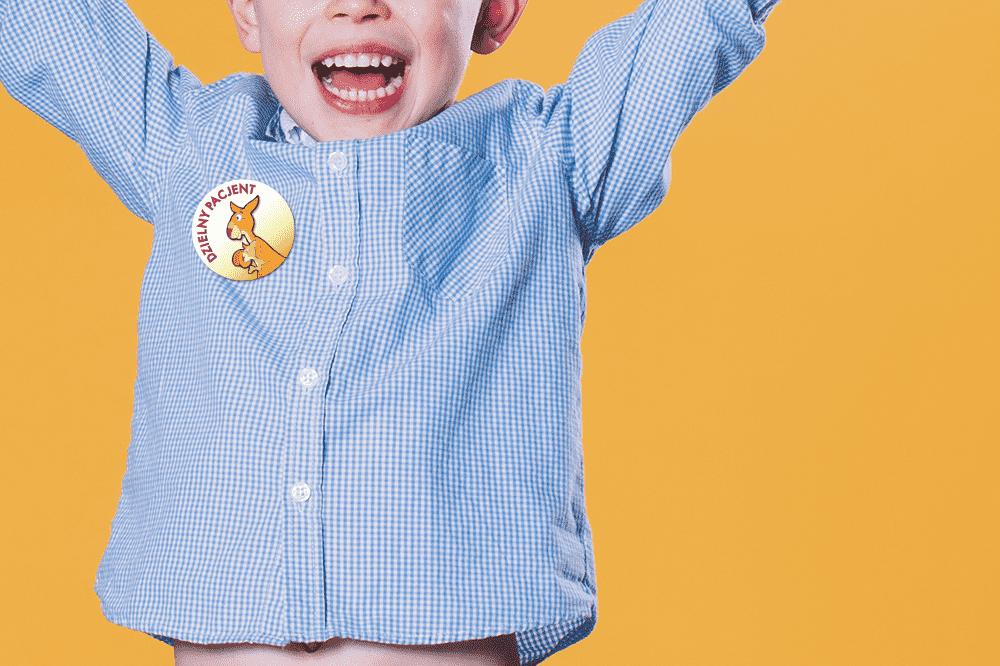 Naklejka dla dziecka dzielny pacjent
