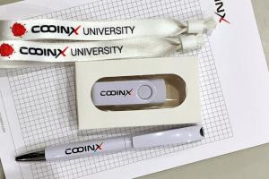Notes firmowy długopis pendrive tasma dostepowa zestaw konferencyjny