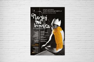 Plakat B2 afisz teatralny spektaklu Studium Musicalowego Capitol Narysuj mi baranka