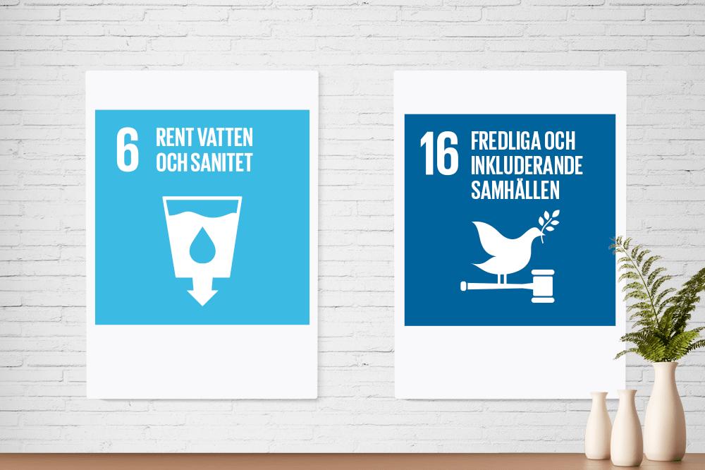 Plakaty formatu A0 niebieski i granatowy piktogramy ze szkolenia firmowego