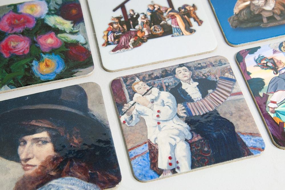 Podstawki pod kubki z nadrukiem kolekcja malarzy