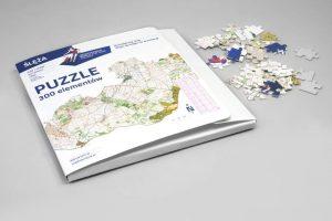 Puzzle firmowe z nadrukiem biegi na orientację mapa