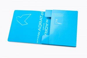 Teczka firmowa kwadratowa grzbiet 1 cm niebieska AQRAT