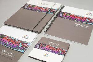 Katalog notes na spirali teczka firmowa z gumka folder zestaw konferencyjny