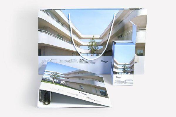 Torba papierowa duza elegancka opakowanie na kubek segregator zestaw konferencyjny
