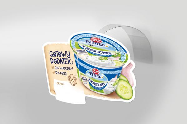 Wobbler reklamowy jogurt grecki