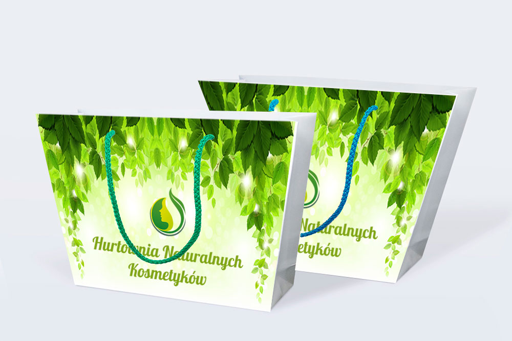 Torb -papierowa szoperka zielona natura