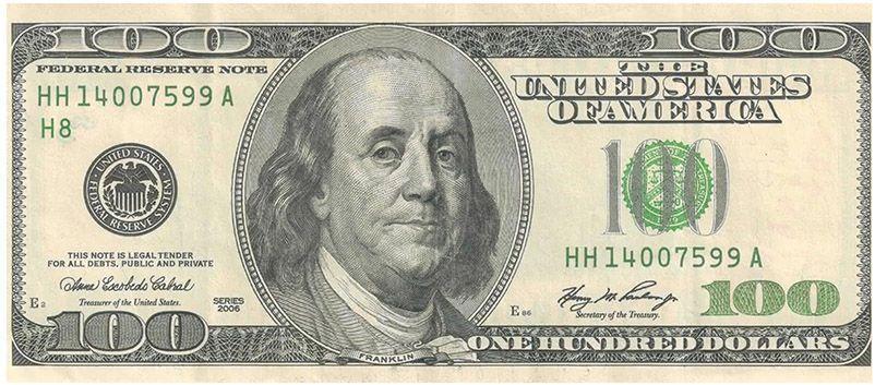 Benjamin Frnaklin na banknocie 100 dolarowym compressor - Od drukarza do prezydenta....wiedzieliście?