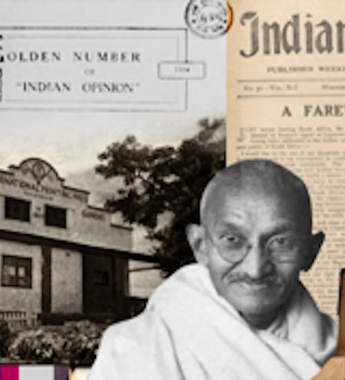 Mahatma Gandhi druk gazetek Indian Opinion