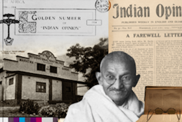 Mahatma Gandhi druk gazetek Indian Opinion
