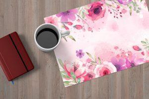Podkladka na stol placematy malowane kwiaty
