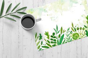 Podkladka na stol placematy zielona wiosenna